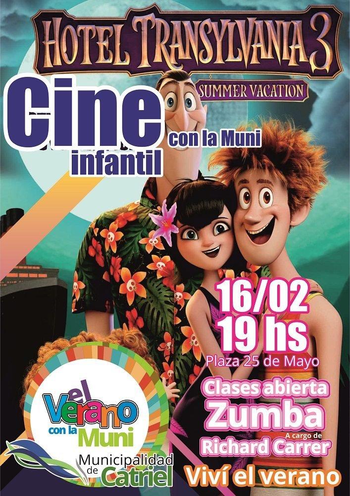 """Catriel25Noticias.com Afiche-16-02 """"Cine Infantil de Verano"""" en Plaza 25 de Mayo LOCALES"""