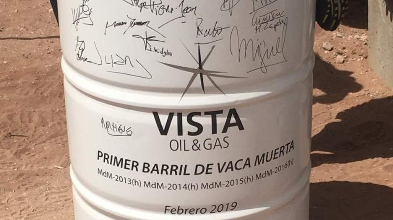 Catriel25Noticias.com petroleo-barril-vista El primer barril de Shale Oil de Vista Oil & Gas de vaca muerta Destacadas NACIONALES