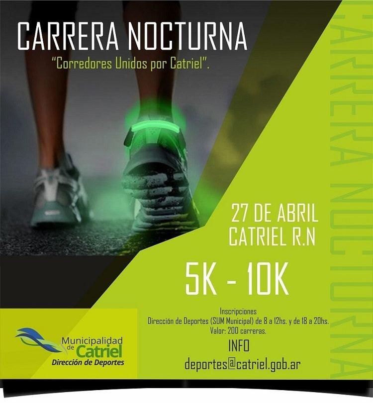Catriel25Noticias.com CARRERA-NOCTURNA-2-copia El sábado llega la 2º Carrera Nocturna DEPORTES