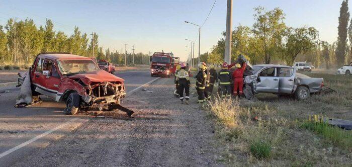 25 de mayo: Accidente en ruta de acceso a la localidad
