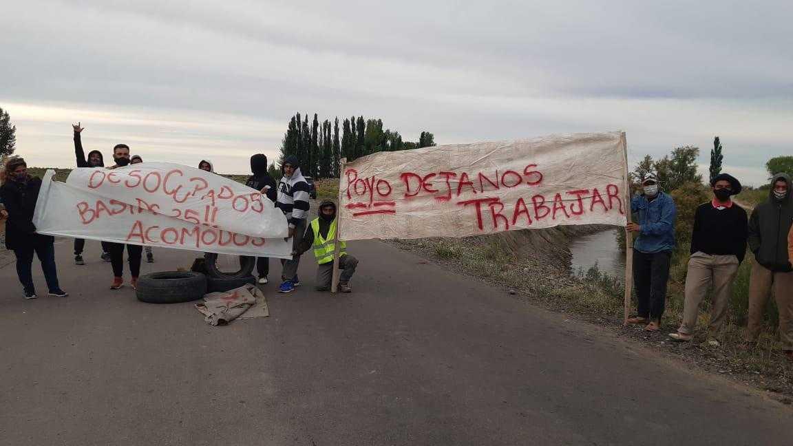 Desocupados cortaron el acceso a 25 de Mayo