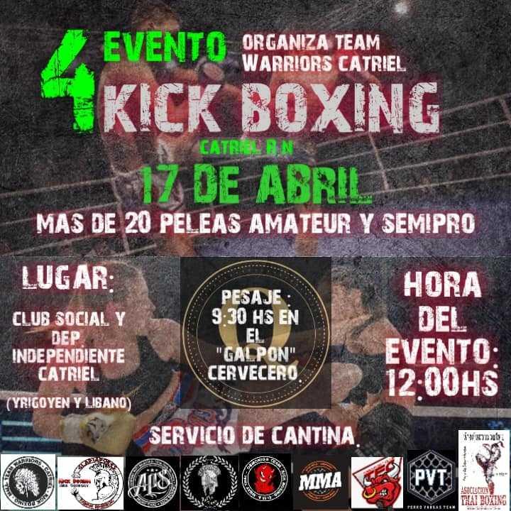 Lo mejor del Kick Boxing se presenta en Catriel
