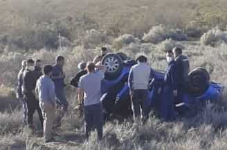 Ruta 151: la altura entre el asfalto y la banquina provocó un nuevo accidente – Catriel25Noticias.com